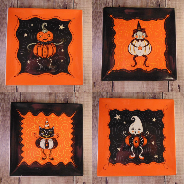 Johanna Parker Design Pumpkin Peeps Plates - Choose your favourite!