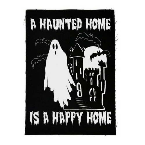 A Haunted Home is a Happy Home Patch/Print