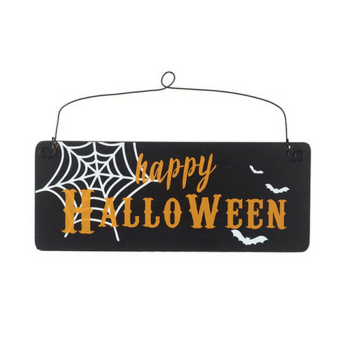 Wooden Happy Halloween Sign