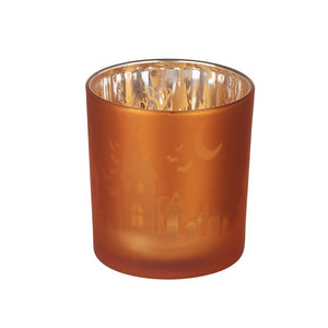 Orange Glass T Light Holder