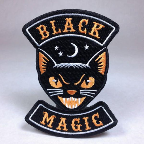 Black Magic Cat Biker Patch