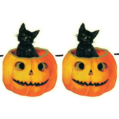 Cat and Pumpkin Garland
