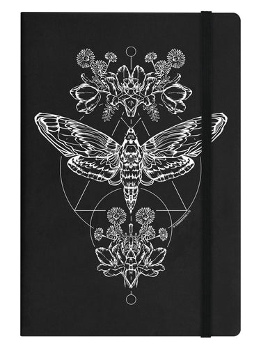 Death's Head Moth A5 Hard Cover Lined Notebook