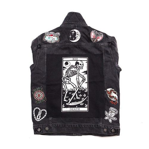 Death Tarot Sew-on Back Patch