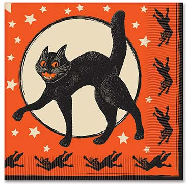 Beistle Scratch Cat Napkins - Pack of 16
