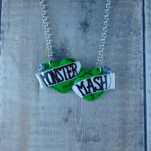 Monster Mash Large Double Heart Necklace