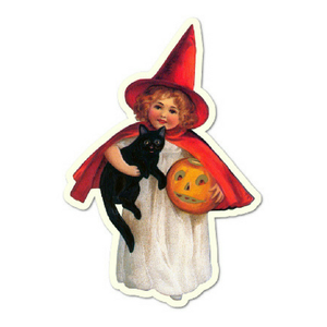 Pumpkin Witch Girl Gift Tags