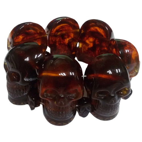 Skull Collection Amber Resin Bracelet
