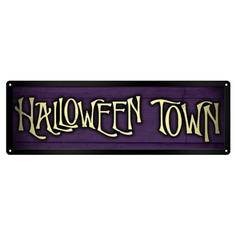 Halloween Town Tin Sign
