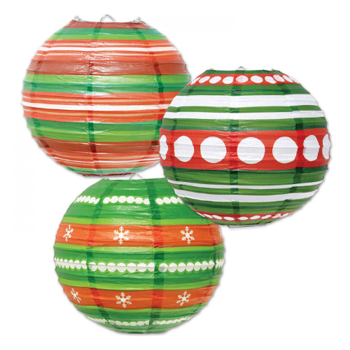 Paper Christmas Lanterns - set of 3