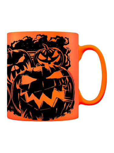Evil Pumpkins Neon Orange Mug