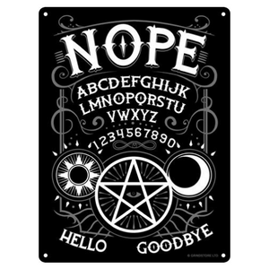 Nope Ouija Mini Tin Sign