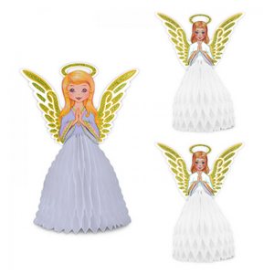 1970s Tissue Angel Centrepieces - set of 3