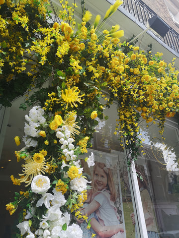 Belgravia in Bloom Pepa & Co. Shop Front Close Up