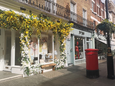 Belgravia in Bloom Pepa & Co. Shop Front Red Phonebox
