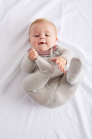Baby in Grey Knitted Set