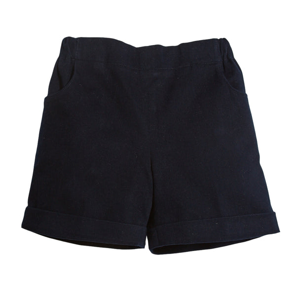Classic Cotton Baby Shorts Navy - Shorts - PEPA AND CO