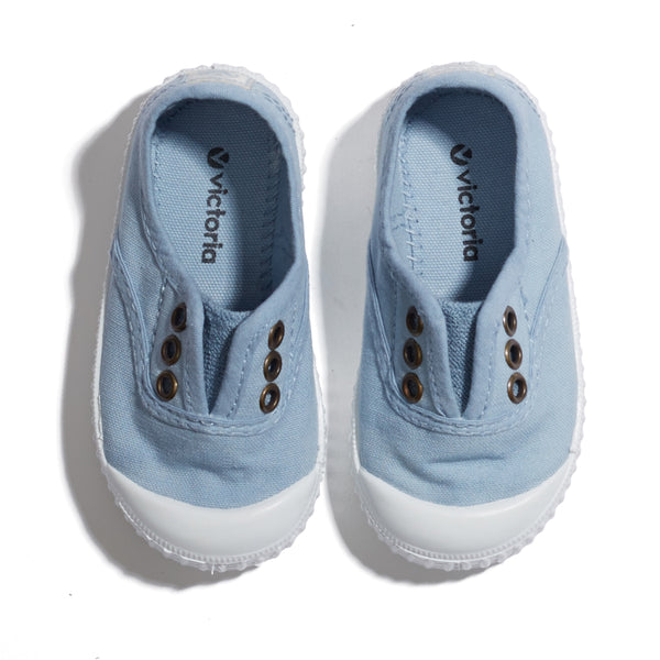 Pale Blue Plimsolls - Shoes - PEPA AND CO