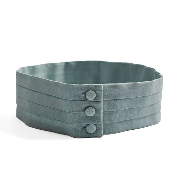Pageboy's linen cummerbund teal - Belt - PEPA AND CO