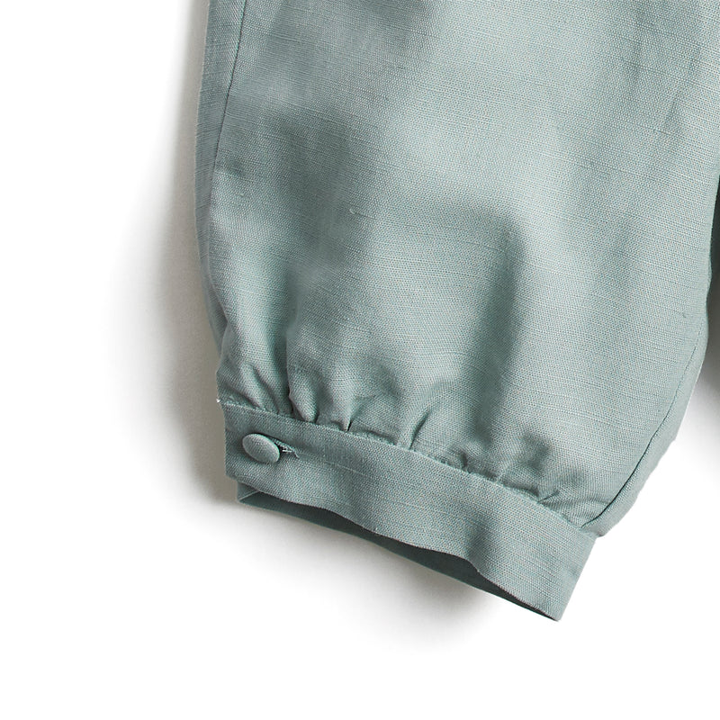 Teal Linen Pageboy Knickerbockers - Trousers - PEPA AND CO