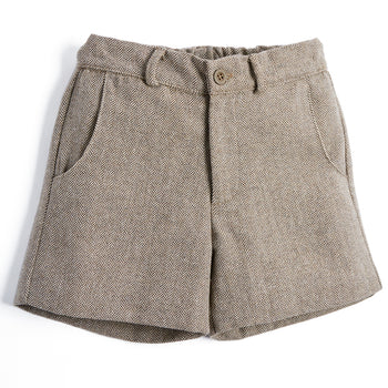Boys Classic Brown Shorts - SHORT - PEPA AND CO