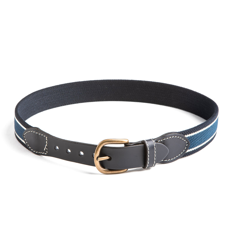 Dark Blue Striped Belt - Belt & Braces - PEPA AND CO