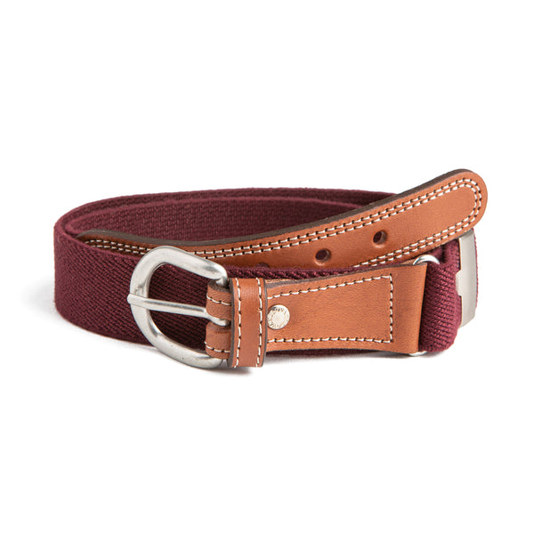 Burgundy Belt - Belt & Braces - PEPA AND CO