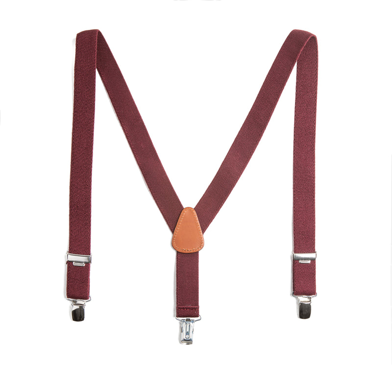 Burgundy Braces - Belt & Braces - PEPA AND CO