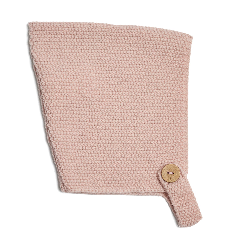 Winter Knitted Baby Bonnet Pink - Bonnet - PEPA AND CO