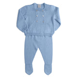 Blue Knitted Wool Set - KNITTED - PEPA AND CO