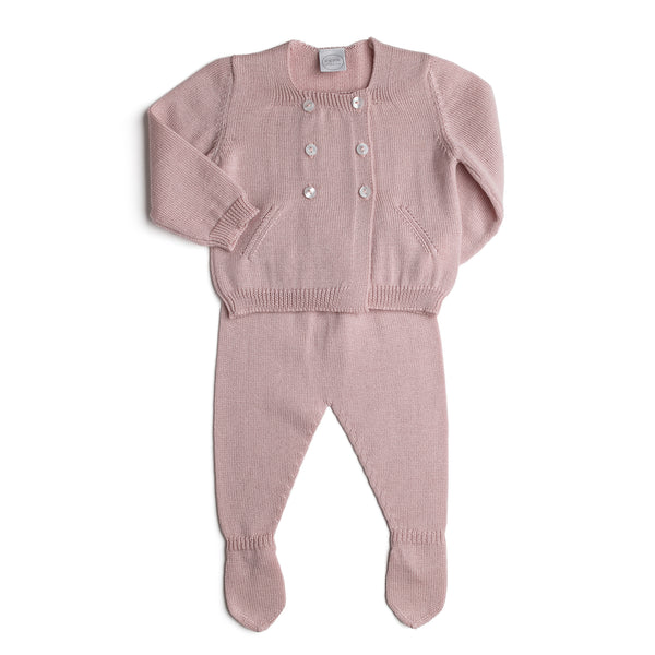 Pink Knitted Wool Set - KNITTED - PEPA AND CO