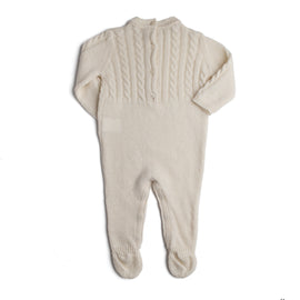 White Cashmere All-In-One - Babygrow - PEPA AND CO