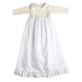 Cream Newborn Gown with Peter Pan Collar - Gown - PEPA AND CO