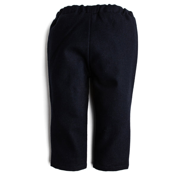 Navy Flannel Wool Trousers - Trousers - PEPA AND CO