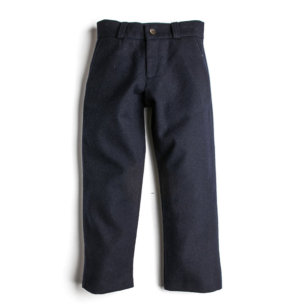 Navy Cotton Trousers - Trousers - PEPA AND CO