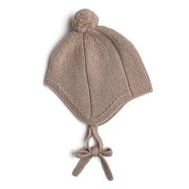 Oatmeal Knitted Winter Bonnet - KNITTED ACC - PEPA AND CO