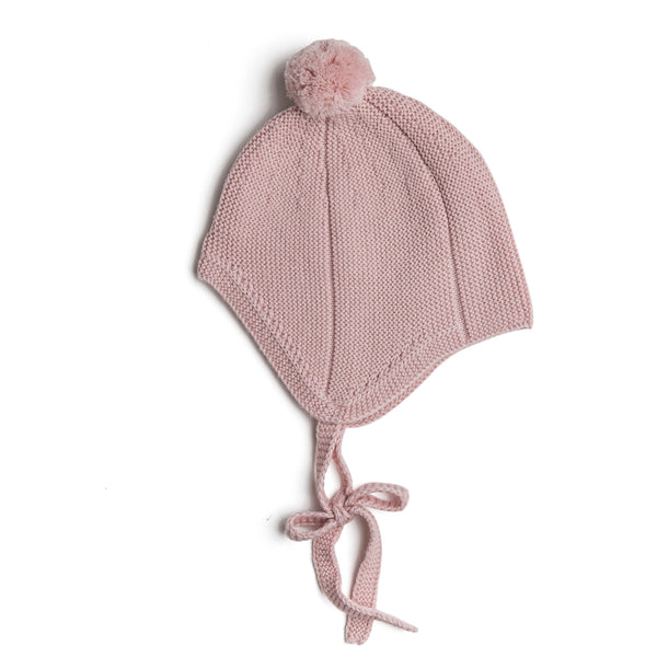 Pink Knitted Winter Bonnet - KNITTED ACC - PEPA AND CO