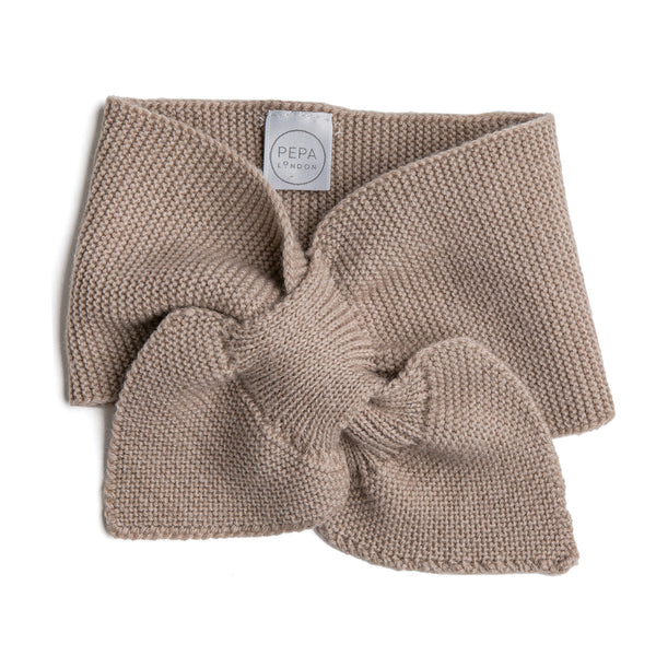 Oatmeal Knitted Winter Scarf - KNITTED ACC - PEPA AND CO