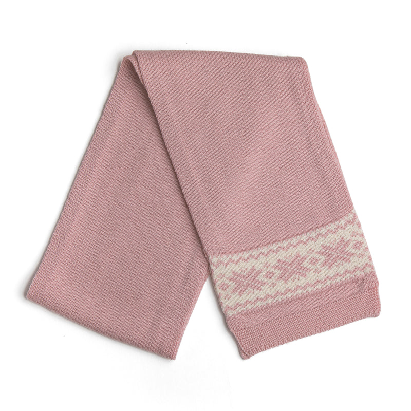 Pink Knitted Scarf - Scarf - PEPA AND CO