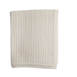 White Cashmere Pram Blanket - Knitted Acc - PEPA AND CO