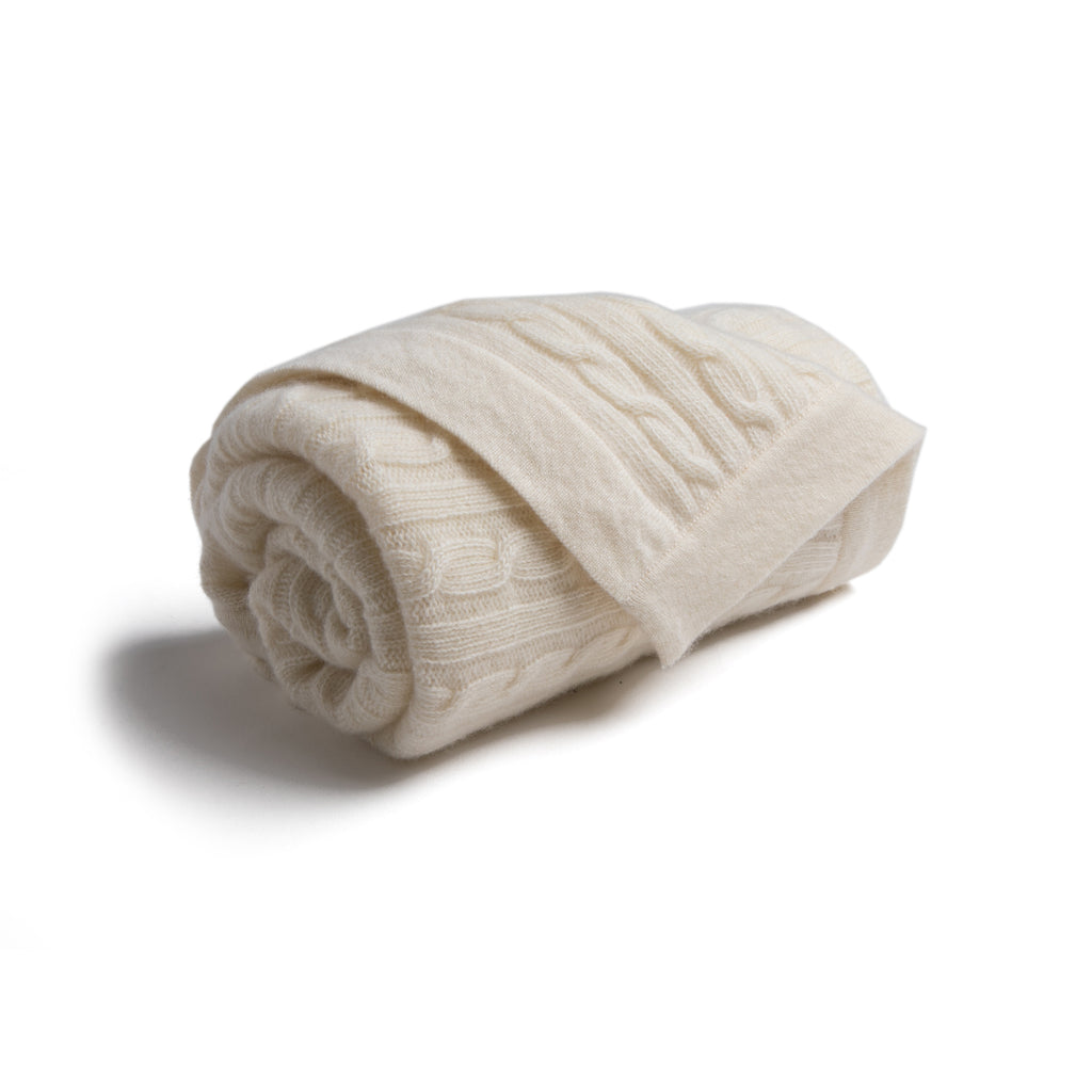White Cashmere Pram Blanket -  - PEPA AND CO