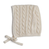 White Cashmere Knitted Bonnet - Knitted Acc - PEPA AND CO