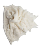 Super-Fine Cream Merino Wool Shawl - Blanket - PEPA AND CO