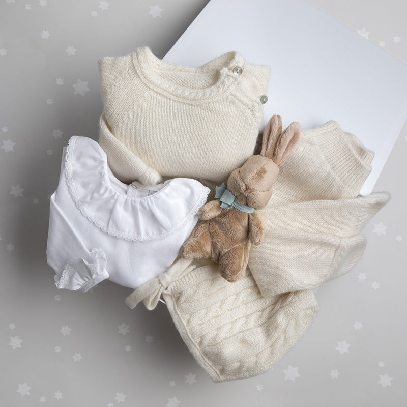 Cream Cashmere Luxury Set with Bodysuit - Gift Set - PEPA AND CO
