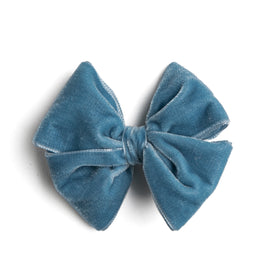 Blue Velvet Big Bow Clip - Hair Accessories - PEPA AND CO