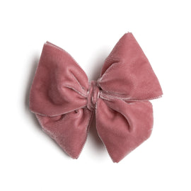 Pink Velvet Big Bow Clip - Hair Accessories - PEPA AND CO