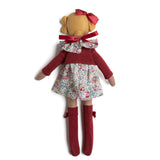 Blonde Doll with Floral Print Dress - Toy - PEPA AND CO
