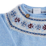 Blue Knitted Wool Set with Fairisle Detailing - KNITTED - PEPA AND CO