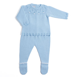 Blue Openwork Knitted Set - KNITTED - PEPA AND CO