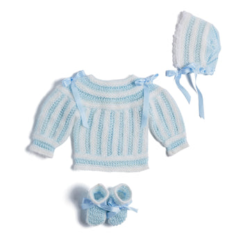 Blue Knitted Special Occasion Set with Angora - Set - PEPA AND CO